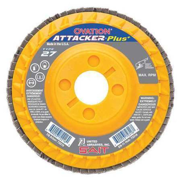 10-Pack United Abrasives-SAIT 75520 5 by 7//8 2AX 120X SAITlam FG Flap Disc