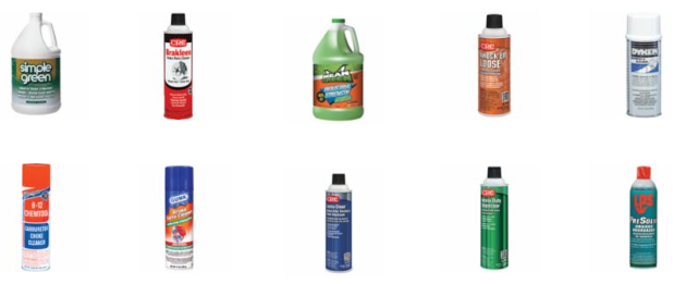 Lubricants, Chemicals, and Cleaners