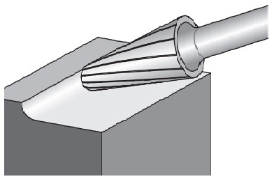 14° Taper With Radius End - Shape L