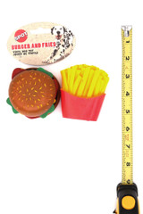 Wholesale Spot Vinyl Burger and Fries Squeaky Dog Toy