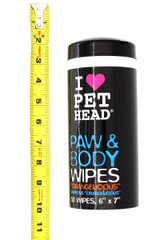 Wholesale Pet Head Paw & Body Dog Cleansing Wipes -50 Count - Orangelicious Scent