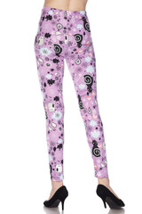 Wholesale Buttery Soft Lavender Kitty Cats Leggings