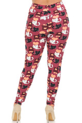 Lovable Kitty Cats Plus Size Wholesale Buttery Soft Leggings