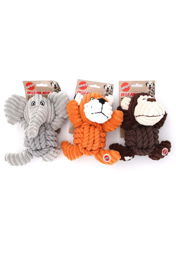 Wholesale Knotted Animal Squeaky Dog Toy