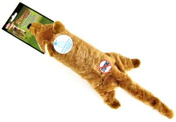 Wholesale Spot Skinneeez Big Bite Coyote Squeaky Plush Dog Toy with Plastic Bottle