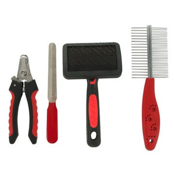 Wholesale 4 Piece Brush Comb Nails Clippers and File Pet Grooming Set