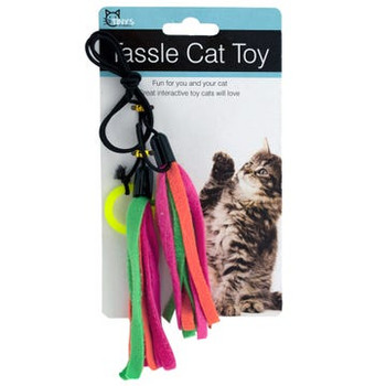 Wholesale Colorful Tassels Cat Teaser Toy