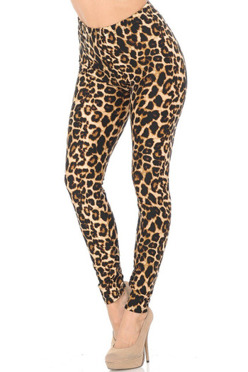 Wholesale Buttery Soft Bold and Beautiful Leopard Plus Size Leggings