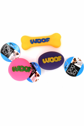 Wholesale Neon Woof Squeaky Dog Toy