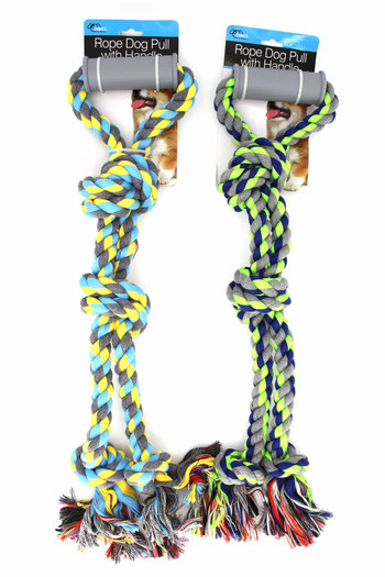 Wholesale Giant 2 Knot Rope Dog Toy with Handle Grip