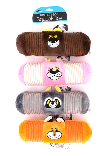 Wholesale Furry Animal Face Squeaky Dog Toy