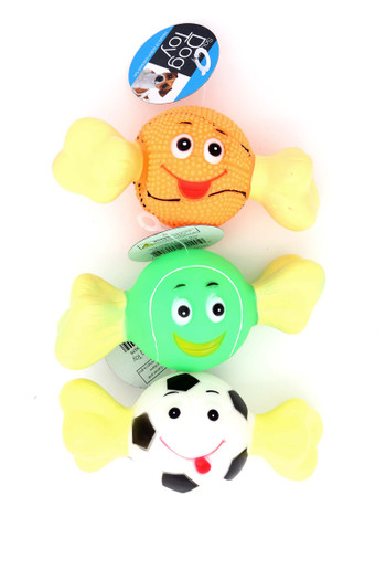 Wholesale Bone with Sports Ball Squeaky Dog Toy