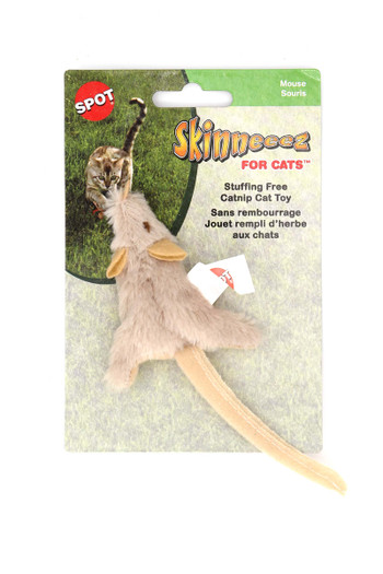 Wholesale Spot Skinneeez Stuffing Free Catnip Filled Mouse Cat Toy