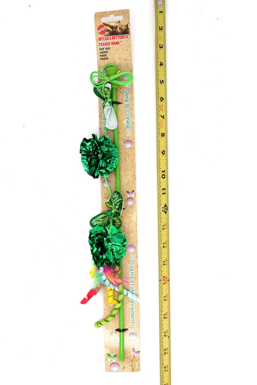 Wholesale Spot Butterfly and Crinkle Ball Teaser Wand Cat Toy