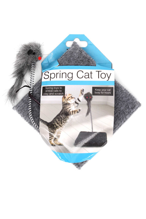 Wholesale Mouse Spring Cat Toy with Base