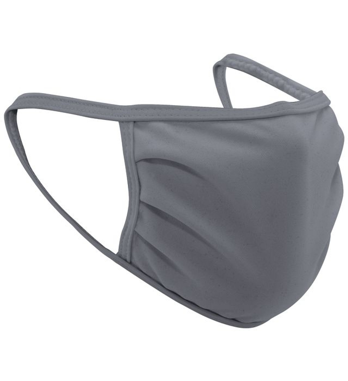 Charcoal Gray Polyester Face Mask Bulk Pack