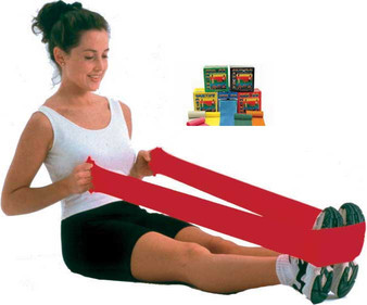 Cando high quality latex exercise band has been used by clinics and individuals since 1987.