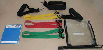 CanDo® Adjustable Exercise Band Kit - 4 band (yellow, red, green, blue)