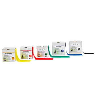 50 Yard TheraBand Resistance Band Roll options: 5 piece set or individual  yellow, red, green, blue and black resistance levels