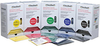 Pre Cut TheraBand Resistance Band Packs - Comes with 30 prepacked 4 ft sections of desired resistance level