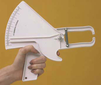 Baseline® Economy Plastic Skinfold Caliper, Slim-Guide style, 25-pack
