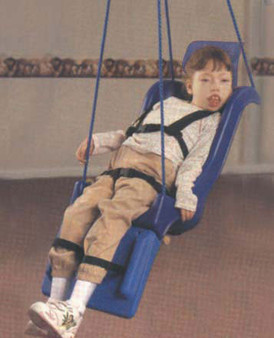 Child Size Skillbuilders Full Support Swing Seat With Pommel - Rope Attachment
