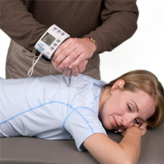 The Commander Algometer by JTech is used to quantify pressure thresholds and tolerance for objective pain evaluation.