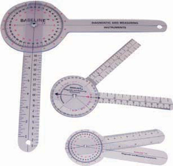 Baseline 12-inch Plastic 360-Degree ISOM/STFR Goniometer - 25
