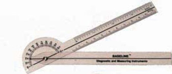Baseline 180-Degree Plastic Pocket Goniometer - Pack of 25