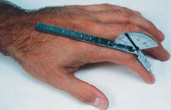 Baseline 6-Inch Stainless Steel Finger/Small Joint Goniometer