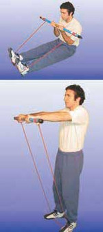 Cando RolUp Exercise Bar for Bands and Tubing