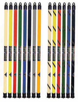 The color-coded CanDo® Slim® WaTE™ exercise bars
