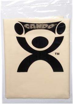 CanDo® Low Powder Exercise Band - 4' length - Tan - xx-light