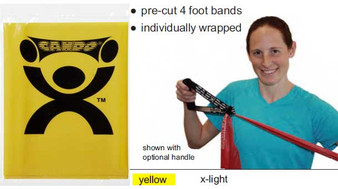 CanDo® Low Powder Exercise Band - 4' length - Yellow - x-light