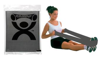 CanDo® Low Powder Exercise Band - 4' length - Black - x-heavy