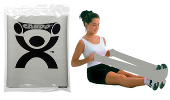 CanDo® Low Powder Exercise Band - 4' length - Silver - xx-heavy