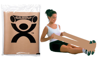CanDo® Low Powder Exercise Band - 4' length - Gold - xxx-heavy