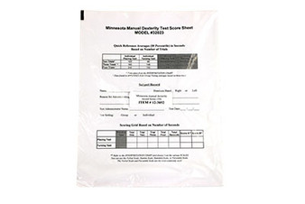 Minnesota Manual Dexterity Record Forms
