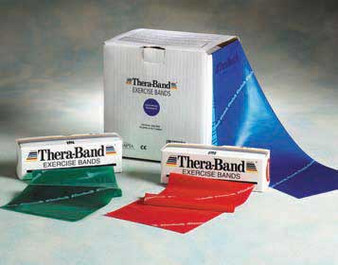 Thera-Band Latex Exercise Bands with Deluxe Rack
