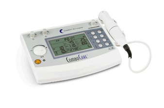 The versatile Current Solutions ComboCare Electrotherapy Ultrasound Machine allows the therapist to provide treatment with both modalities.