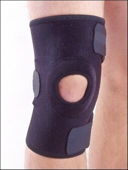 "Knee Brace, Universal Size, Open Patella, 3 Closures, 10"" long"