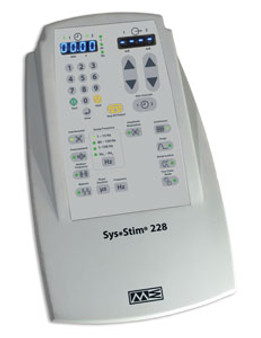 Sys Stim 228 features Four Discrete Waveforms: Interferential, Premodulated, Medium Frequency (Russian) and Biphasic