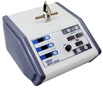 The MTD 4000 traction system is an easy to use device that offers static and intermittent traction with user definable hold, rest, and treatment times.