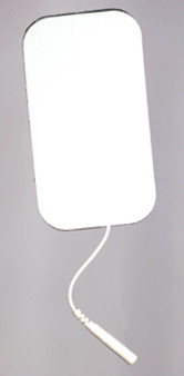 "2"" x 3.5"" Rectangular White Foam Back Electrodes"