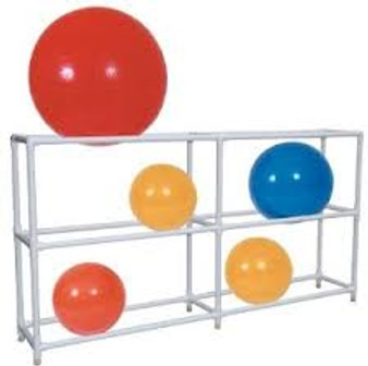 PVC 12 Count Exercise Ball Rack