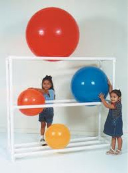 PVC 8 Count Exercise Ball Rack