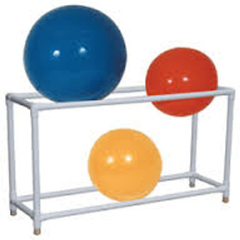 PVC 6 Count Exercise Ball Rack