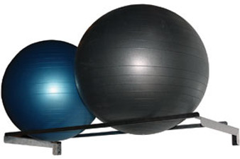 Wall Mount 2 Count Exercise Ball Rack