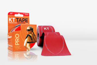 KT Tape Pro Synthetic Kinesiology Tape - Pre-Cut Single Roll - Rage Red