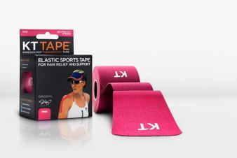 KT Tape Original Cotton Kinesiology Tape - Pre-cut Single Roll - Pink